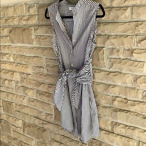 FRAME Tie Up/ Button Down Dress Shirt Tunique???